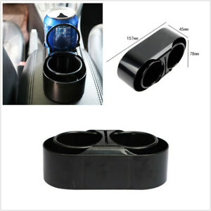 Portable Dual Hole Drinks Holder Interior Organizer Cup Bottle Stand Fit For Car