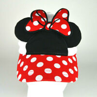 Disney Minnie Mouse Girls Baseball Cap Hat Child Ears Polka Dot Bow Red White