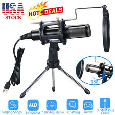 Selling Condenser Usb Microphone w/ Tripod Stand for Game Chat Studio Recording