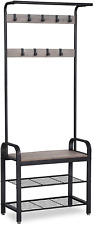 Vasagle Daintree Coat Rack, Shoe Bench, Hall Tree with Storage Shelf for Accent