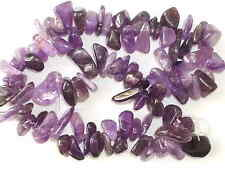 1 String of Amethyst stone chip beads  10mm - 15mm   Stone 002