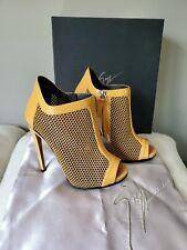 GIUSEPPE ZANOTTI Valeria Patent Leather Peep Toe Bootie Size 35 MSRP $1095 NEW