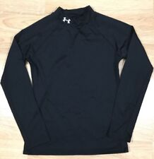 UNDER ARMOUR Shirt YXL Fitted Cold Gear Long Sleeve Black