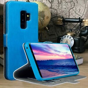 Coverup© Retail Box High Resistant Flip Case BLUE Samsung Galaxy S9 PLUS
