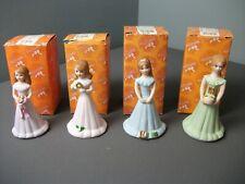 4 Enesco Figurines - Growing Up Girls Birthday Years. 8, 9, 10, 11 - 6 aa kge