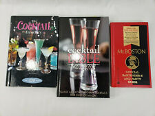 Lot Of 3 Cocktail Bartender Hardcover Books Mr. Boston Bible Directory