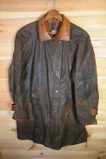 Toggi Kiwi Stockman Brown Waxed Riding Coat Jacket Coat Leather XS