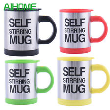 Yellow Self Stirring Hot Tea Coffee Soup Lazy Mug Cup Home Office Camping Travel