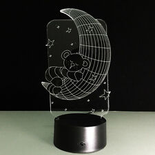 Luce Notturne Acrilico Moon Luna Lampada Casa Deco Regalo Natale Gift Hot