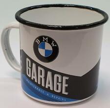 Nostalgic Art Emaille Becher BMW Garage Kaffeebecher Nostalgie Tasse Camping Cup