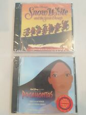 2Walt Disney Soundtrack CDs Pocahontas & Snow White New Sealed