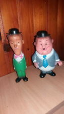 LAUREL AND HARDY YUGOSLAVIA VINTAGE RUBBER TOY DOLL