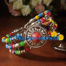 Fashion New Tibet Tibetan silver ladies Lucky beads bracelet bangle