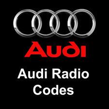 Audi Radio Codes Unlock Stereo Code   Concert Symphony Chorus RNS-E All Models