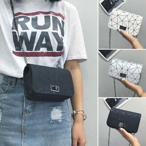 Women Ladies Messenger Side Bag Shoulder Handbag Leather Chain Cross Body Purse