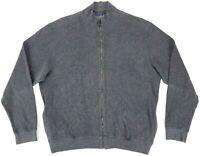 Ralph Lauren Purple Label Italy Made 100% Cotton Full Zip Sweater Jacket Mens XL