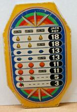 "Bell Fruit Slot Machine Award, Payout Plate, Plastic, 6 1/16"" X 3 7/8"""