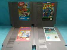Nintendo NES Games Wall Street Kid Bart Simpson Space Mutants Trick Shooting Rad