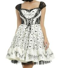 NIGHTMARE BEFORE CHRISTMAS GOTHIC JACK SKELLINGTON BATS LACE CORSET PARTY DRESS