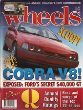 Wheels Jun 93 XR6 XR8 MX5 Coupe E36 M3 W202 C Class 540i E34