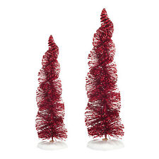 Department 56 Spiral Ruby Trees 4038836  Tree 2014 Village Accessory D56 NEW