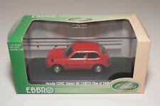 A2 1:43 EBBRO 296 HONDA CIVIC 3 DOOR GL 1972 RED MIB RARE!!!