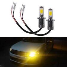 2pcs H3 80W Strobe Flash LED Bulbs Car Fog Driving Light Lamp Yellow Amber 3000K