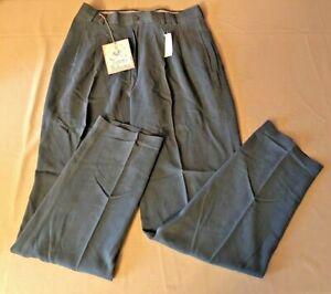 Tommy Bahama The Fishbone Dark Forest Mens 100% Silk Slacks Pants Sz 32 NEW NWT