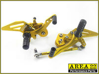 Kawasaki Z125 / Pro 2016- 2017 Area 22 CNC Rear Sets Gold Rearset Footpegs