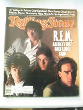 ROLLING STONE MAGAZINE DECEMBER 3 1987 ISSUE NO. 514 REM Bruce Springsteen Sting