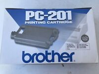 Brother PC-201 Black Fax Cartridge IntelliFax 1170 Genuine New LOT of 2