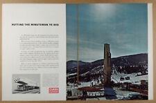 1963 Minuteman Missile Transporter-Erector Clark Equipment vintage print Ad