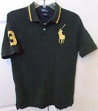 Polo Ralph Lauren #3 Youth Big Horse Logo Polo Shirt Green/Blue Large (14-16)