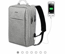 OSOCE Slim Laptop Backpack Business Computer Bag with USB Port Charger Anti 15.6