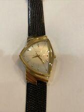 Hamilton Ventura Men's Watch, Registered Edition 6250, Black Strap, Gold Case