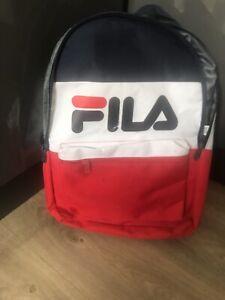 Rucksack School Bag Backpack . Boys Bag Gym Bag Fila Back Back Retro