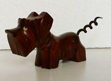 Novelty Wooden Carved Scottie Dog Bottle Opener Corkscrew