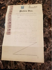 1898 Mexico Gold Mine Deed Signed by President Porfirio Diaz Revenue Stamp Cover