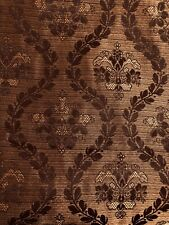 "American Living Estate Damask Rod Pocket Drapes Curtains 54""Wx84""L Chocolate"