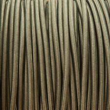 KHAKI Rotondo Intrecciato Tessuto Cavo MEX 0.5 mm (Cavo TEXTIL)