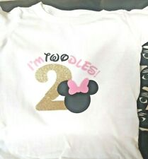 Minnie mouse birthday t shirt disney t shirts for kids Fast shipping 2T graphic