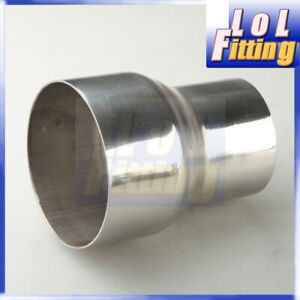 """Universal 3"""" To 4"""" Weldable Turbo/ Exhaust Stainless Steel Reducer Adapter Pipe"""