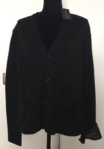 NWT Ralph Lauren Men's Black Sweater Cardigan Sz M Medium $395