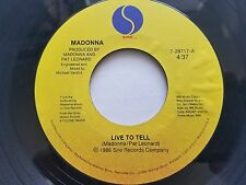 "MADONNA - Live to Tell / Instrumental 1986 DOWNTEMPO Electronic Pop 7"" SIRE"