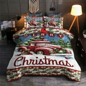 Red Truck Merry Christmas Duvet Cover Bedding Sets Christmas Gifts