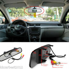 Auto Car Reverse Parking Camera Rearview Mirror TFT Color HD LCD Display Monitor