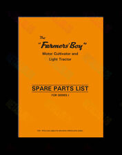 Farmers Boy - Motor Cultivator & Light Tractor Series 1 - Spare Parts List