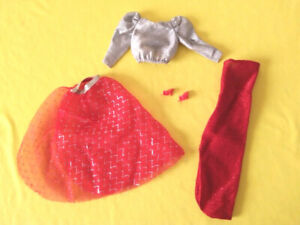 barbie vintage superstar spectacular fashions 7217 1984 abito outfit open toe