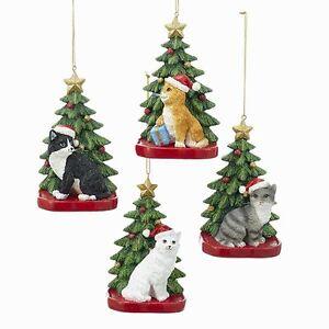 Cats w/Tree Ornament