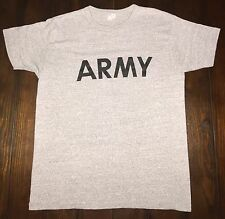 VTG 80's ARMY Crewneck T-Shirt Champion 50/50 Soft Heather Gray Grey LARGE USA